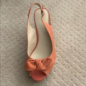 Shoes - Peach Wedges